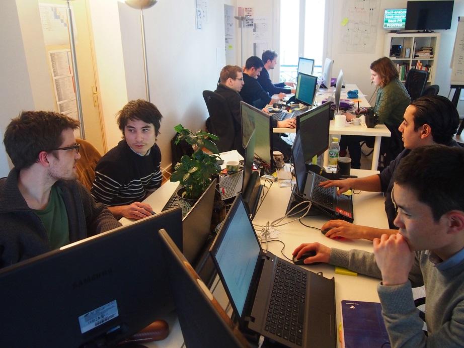 Il team degli sviluppatori quasi al completo...