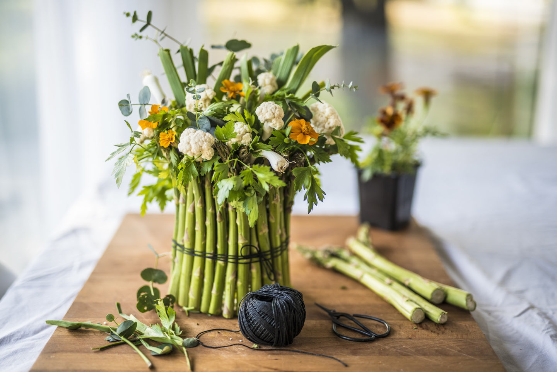 centrotavola asparagi