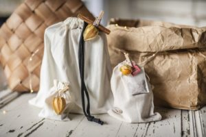 incarto sacchetto tessuto