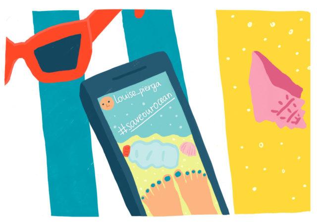 smartphone spiaggia
