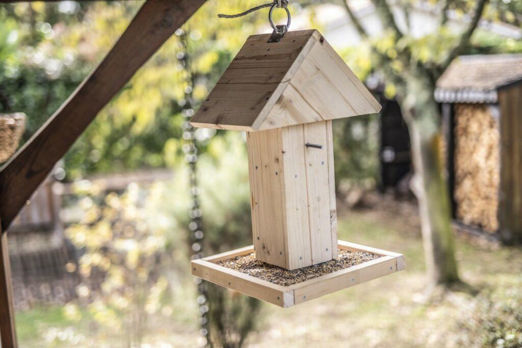 mangiatoia per uccelli appesa