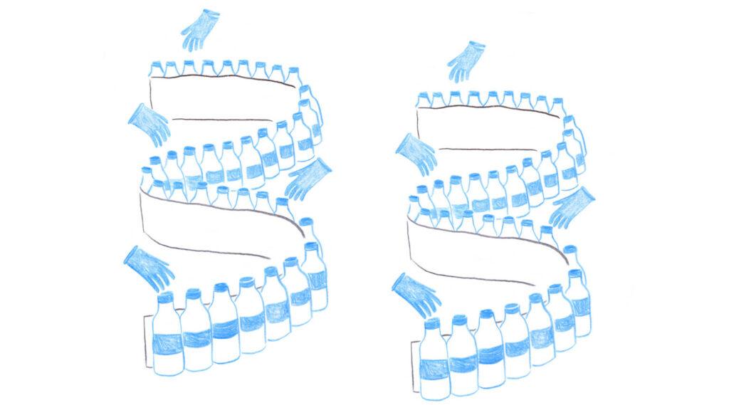 bottiglie di latte