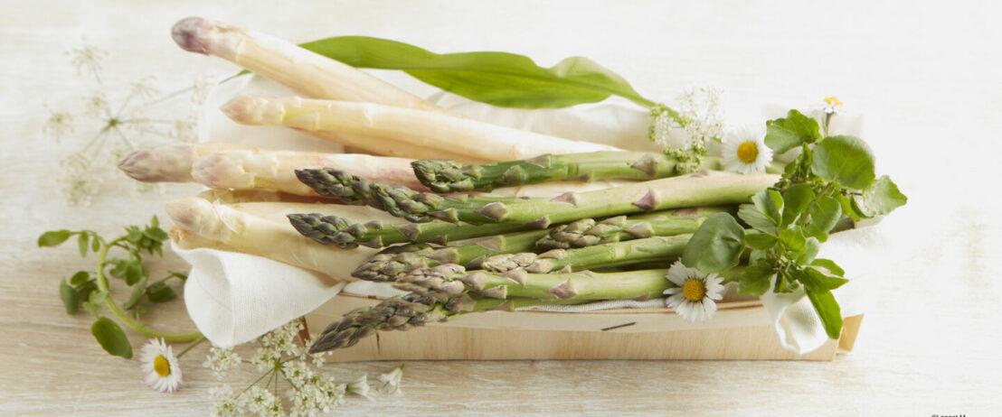 asparagi bianchi e verdi