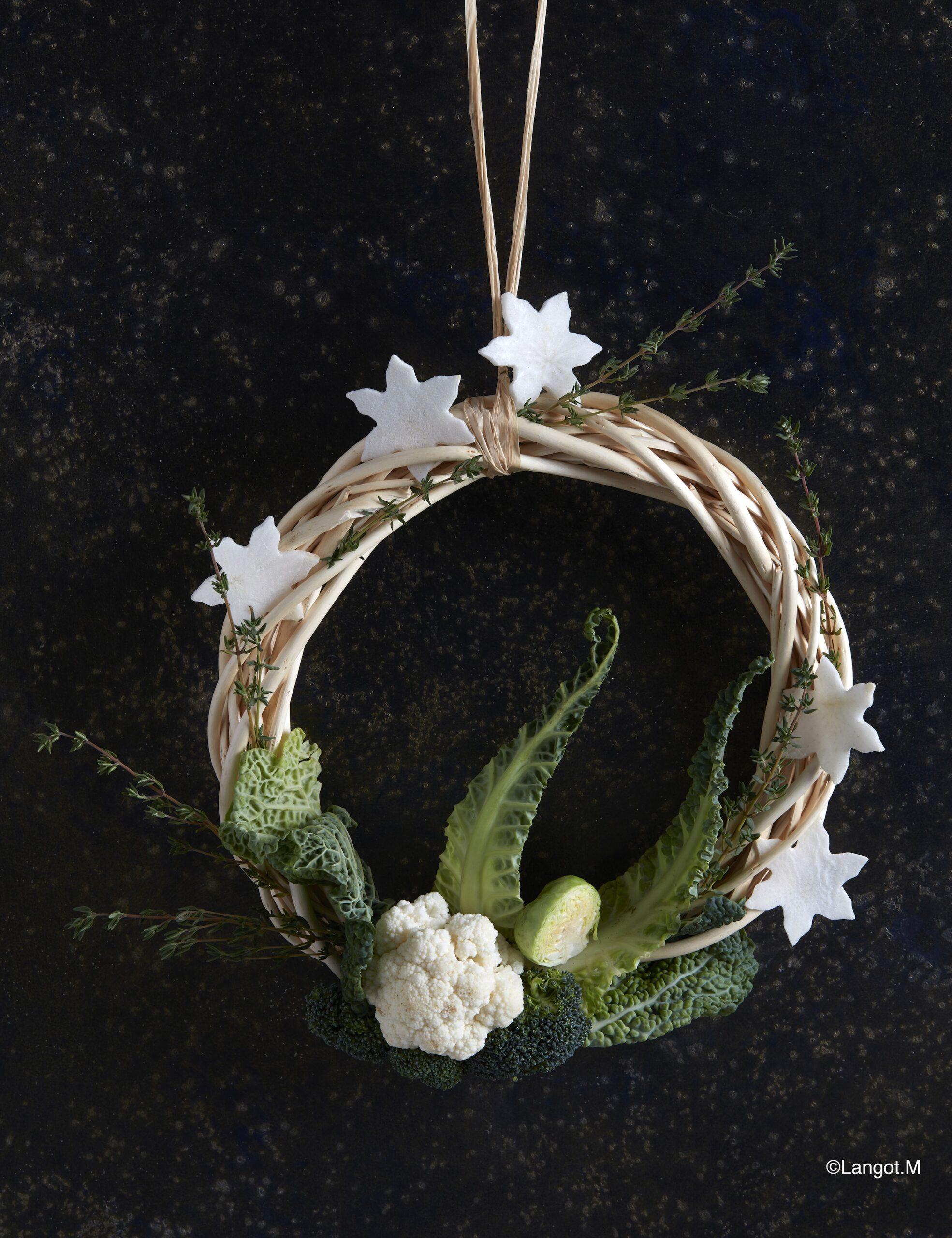ghirlanda frutta verdura decorazioni natalizie