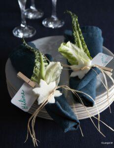 tavola decorazione verdure